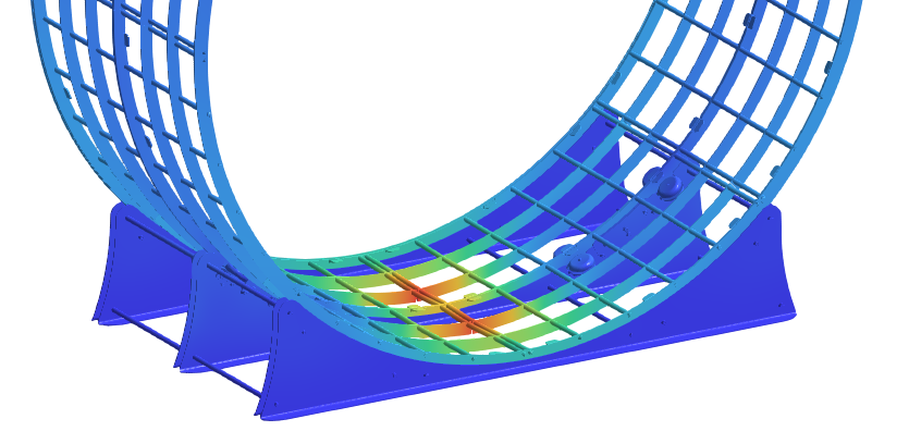 Mechanical simulation of complex assemblies